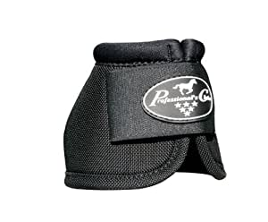 Professionals Choice Equine Ballistic Hoof Overreach Bell Boot, Pair (Small, Black)