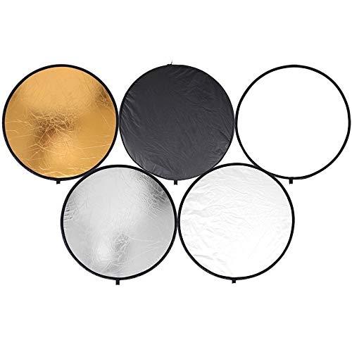 ZengBuks Goldene/Splitter-runde Scheibe 5 in 1 Tragbare leichte runde Stahlrahmen-Fotografie-Studio-Leuchte, zusammenklappbarer Multi-Disc-Reflektor