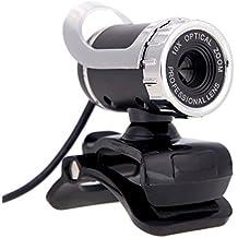 Webcam - TOOGOO(R)HD Webcam de 12 megapixeles Camara giratoria de 360 grados con USB 2.0 y microfono para el ordenador de escritorio Skype y el ordenador portatil