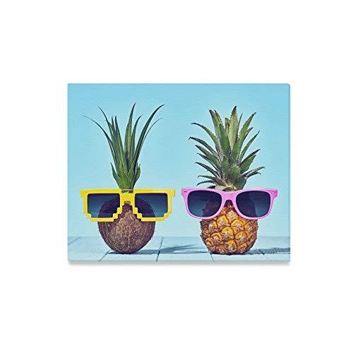 Plsdx Wandkunst Malerei Tropische Ananas Kokosnuss Helle Sommer Farbe Drucke Auf Leinwand Das Bild Landschaft Bilder Öl Für Zuhause Moderne Dekoration Druck Dekor Für Wohnzimmer -