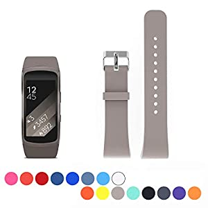 Cyeeson Samsung Gear Fit 2 SM-R360 Replacement Armband Weiche Silikon Adustable Band Gel Wristband Strap Watch Band für Samsung Gear Fit 2 SM-R360 (Klein)