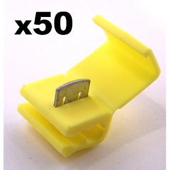 50x cosse electrique connecteur rapide jaune raccords. Black Bedroom Furniture Sets. Home Design Ideas