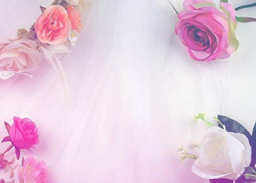 BuEnn Hochzeits-Hintergrund-Vorhang blüht Foral Dekorationen-Wand-Foto-Hintergrund-Babyparty-Nachtisch-Tabelle erröten Hintergrund-Blumenhintergründe für Fotografie