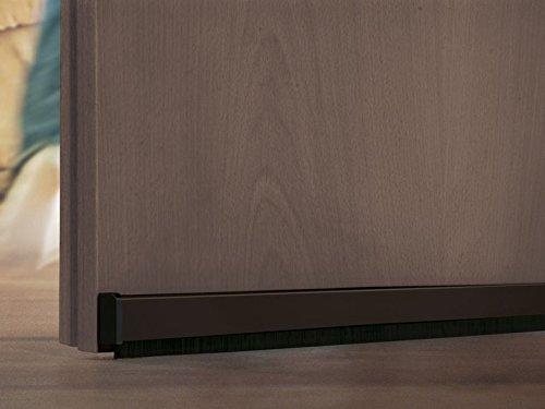 Et Bürste, Holzstäbchen (Automatik Türbodendichtung Türdichtschiene Türdichtung Zugluftstopper Abdichtung für Tür braun)