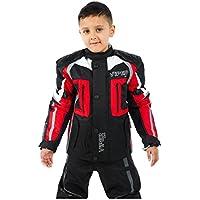 Giacca Moto Bambini VIPER DRACO Bambini Giacca Moto armatura Tessile Giacche Nero / Rosso (6-7 anni)