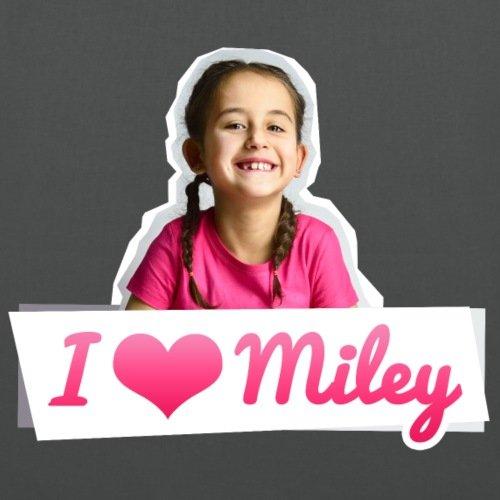Spreadshirt Mileys World I Love Miley Spruch Und Foto Stoffbeutel Graphite