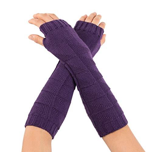 TEBAISE Handschuhe Damen für Frauen Armstulpen für Halber Finger Warme Handschuhe für Frauen Armwärmer für ()