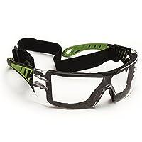 Schmerler İş Gözlüğü 585 Çizilmeye Dayanıklı Buğulanmaz İş Güvenliği Koruyucu Gözlük Yeşil Siyah