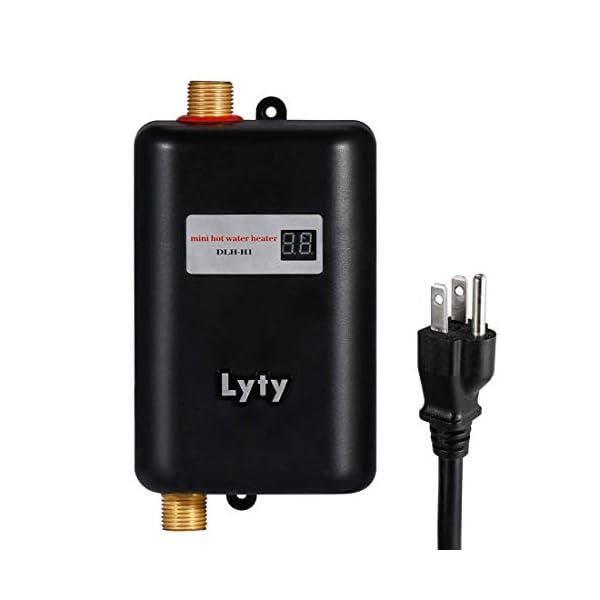 Mini Calentador de Agua Electrico Instantaneo – Sin Tanque Lavabo 3kw 220V Eléctrico Calentador de Agua Caliente de Para…