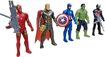 One-Stop-Shop The Team Avengers Set of Five Action Figures (Multicolor)