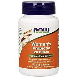 NOW Foods Women's Probiotic 20 Billion - 50 Cápsulas vegetarianas