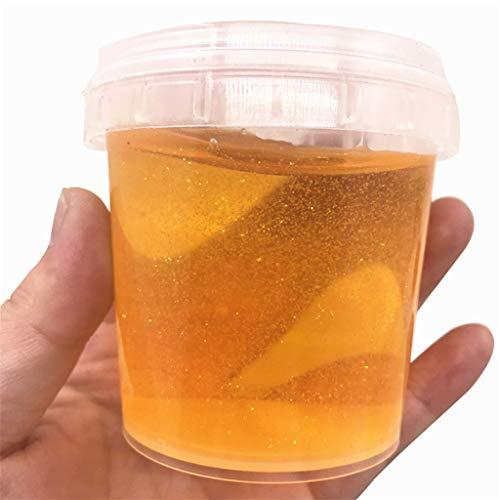 CIELLTE Jouet Anti-Stress Boue de Cristal Transparent Accessoires de Slime Tranches de Fruits Slime DIY Artisanat Décoratif