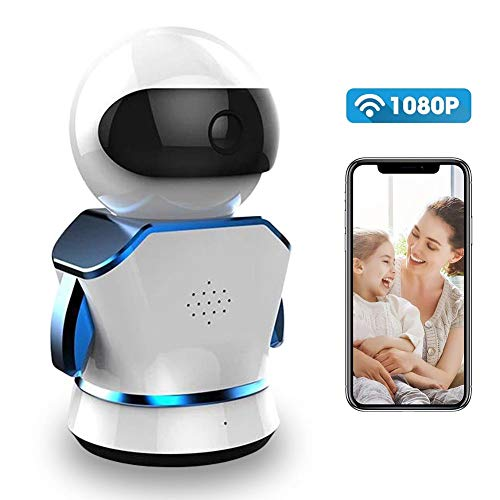 Neekkip Drahtlose Kamera, 3 MP, 1080P, WiFi, Intelligente Roboter-IP-Kamera für den Innenbereich, mit Nachtsicht, Bewegungserkennung, 2-Wege-Audio-Sicherheit für ältere Haustiere
