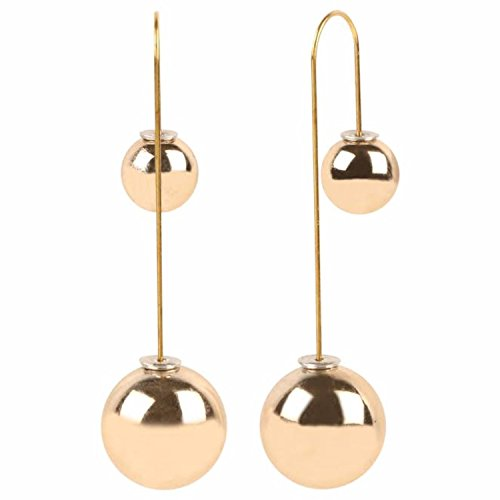 Efulgenz Trendy Stylish Fancy Party Wear Golden Pearl Double Stud Earrings Jewellery...