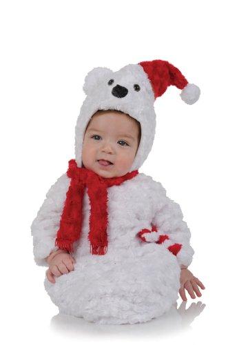 Weißes Bären Kostüm für Babys (Halb Bär Kostüm)