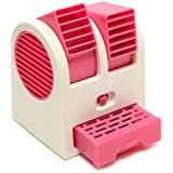 [ New Summer Special Offer ] Mini Cooler | USB And Battery Powered Mini Portable Dual Blower Desk Table Air Cooler Fan | Cooling Fan For | Home | Office | Car [Fresh Stock] (Assorted Color)