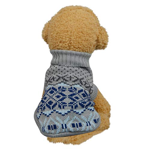 Bluelucon Welpe Hundehund Haustier Kleidung Kapuzenjacke Pullover Warmer Pullover Welpe Welpe Herbst Wintermantel Doggy Mode Overall Jumpsuit Bekleidung