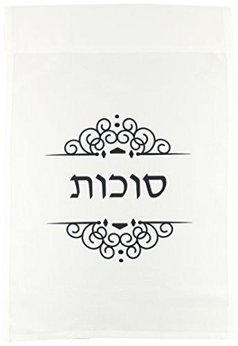 Bilder Hebräische Wort (3drose FL _ 165155_ 1Sukkot Text in Hebräisch schwarz und weiß Ivrit Wort für sukkoth Urlaub Garten Flagge, 12von 18)