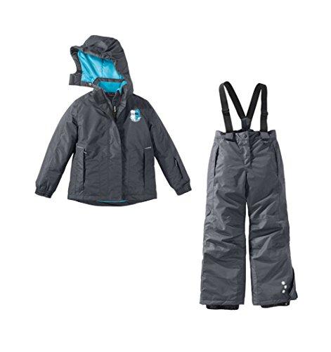 Mädchen Skianzug Skijacke und Skihose Set Schneeanzug 134/140 anthrazit