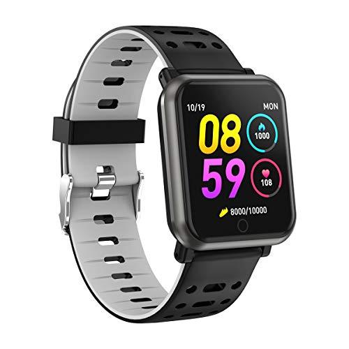Letopro Smartwatch con frequenza cardiaca, orologio intelligente Bluetooth...