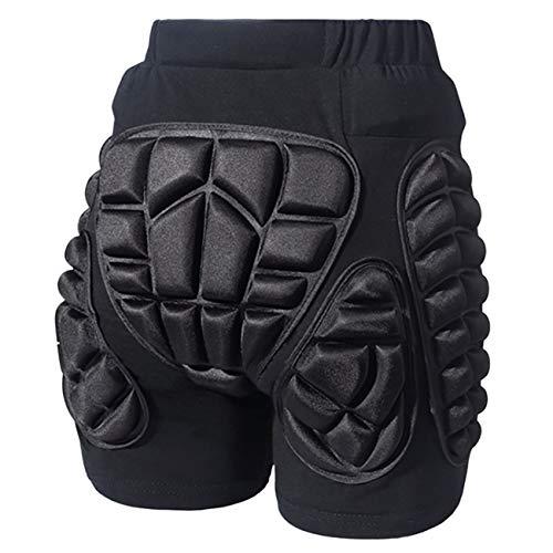 EZSTAX Protektorhosen Schutzhose Gepolsterte Shorts für Kinder und Erwachsene Sports Zubehör,Schwarz,XL