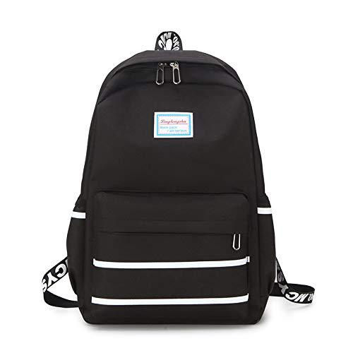 Große Kapazität Rucksack Mann Reisetasche Bergsteigen Rucksack Männer Gepäck Leinwand Eimer Umhängetaschen für Jungen Männer Rucksäcke schwarz 44x29x12cm