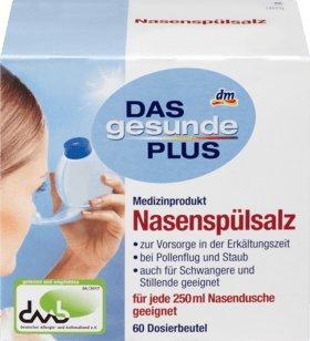 DAS gesunde PLUS Nasenspülsalz Beutel, 1 x 60 Btl Medizinprodukt
