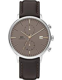 Danish Design Herren-Armbanduhr Analog Leder Schwarz DZ120578
