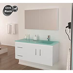 Ensemble salle de bain simple vasque 120 cm HERA