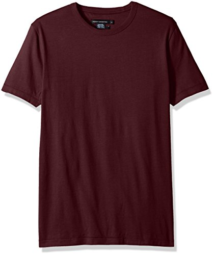 French Connection Men's Short Sleeve Slim Fit Solid Color Crew Neck T-Shirt (T-shirt Short Solid Sleeve Crewneck)