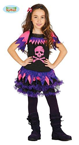 Totenkopf Kleid Monster Kostüm für Mädchen Halloween High School Kinderkostüm Schülerin Halloweenkostüm Mädchenkostüm Gr. 110-146, Größe:110/116