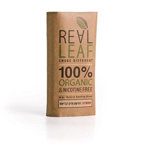 Bio-Kräuter-Natur Rauchen Mischung 30g 100% Nikotin und Tabak frei, reich, Aromatisch , feines Aroma und fließenden, natürlichen Geschmack Real Leaf Tabakersatz -