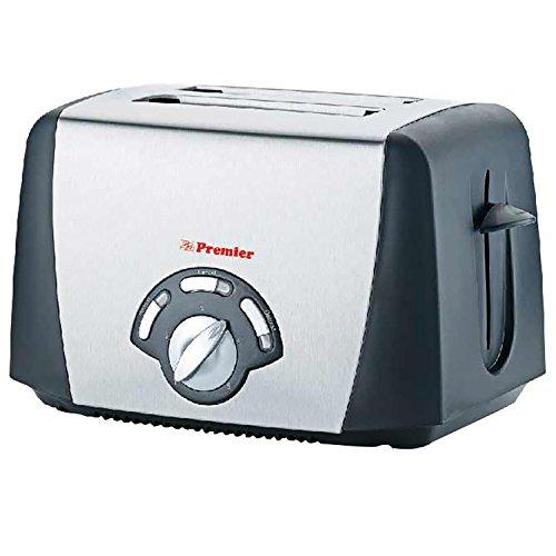 Premier Toaster PT-SB- ( L x B x H) 25 x 15 x 20, silver)