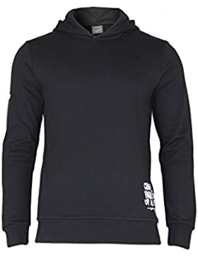 Jack & Jones modern men's hoodie with small logos | long sleeve pullover leisure holidays basic