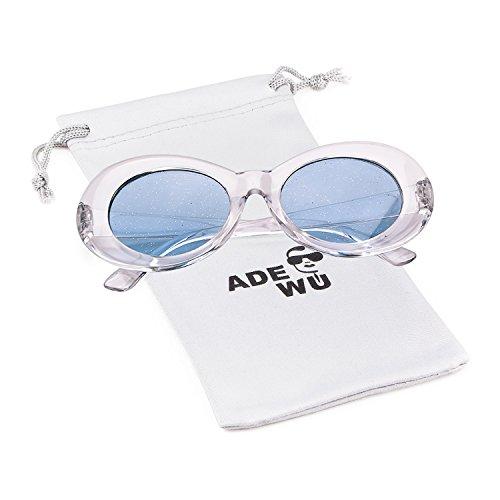 ADEWU 2018 Gafas sol Oval Clout Goggles Retro Kurt