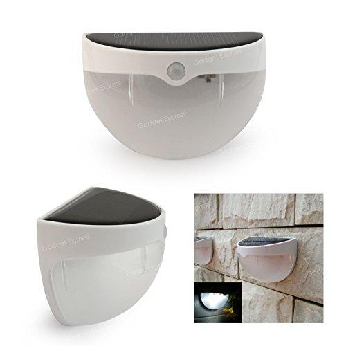 iXium Dome Outdoor Solar Licht mit PIR Bewegungsmelder Bright LED WLAN-Sicherheit Garten Beleuchtung UK für Weg Tür Wand Zaun oder Schuppen - Dome Led-licht Weg