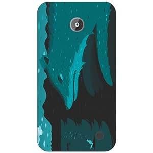 Nokia Lumia 630 blue Phone Cover