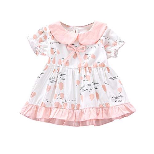d Rüschen Geraffte Schleife Brief drucken Kleid Prinzessin Kleider ()