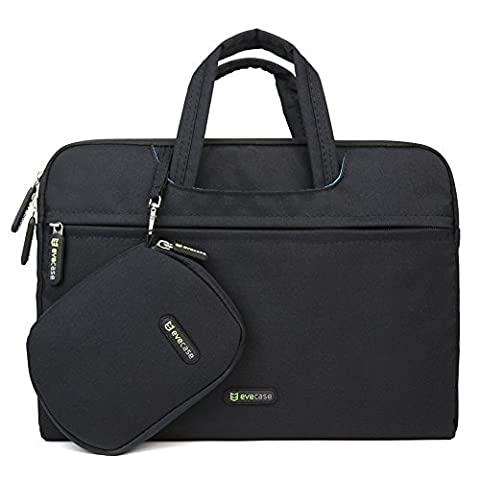 Evecase 13 - 13.3 inch Water-resistant Laptop Carrying Handle Bag with Mouse Pad and Pouch Case for Acer, Asus, Dell, HP, Lenovo, Sony, Toshiba Tablets, Notebooks, Chromebook, and Ultrabook -