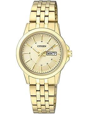 Citizen Damen-Armbanduhr Analog Quarz Edelstahl EQ0603-59PE
