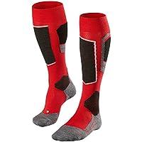 FALKE calcetín de esquí para Hombre SK 4 para Hombre, otoño/Invierno, Hombre, Color Rojo - Rojo, tamaño 42-43