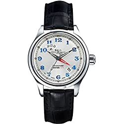 Reloj Ball Trainmaster Cleveland Express Dual Time, Desplegable, Cocodrilo, COSC