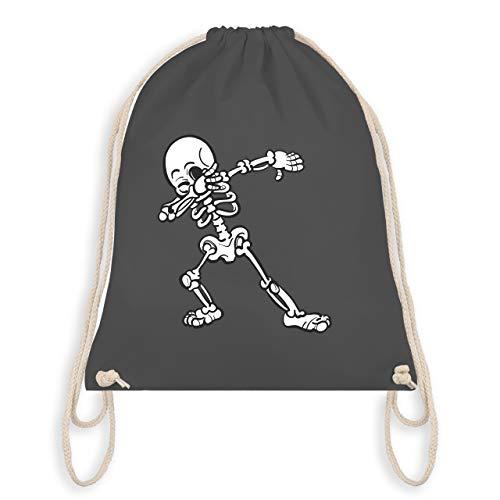 Halloween - Dabbing Skelett - Unisize - Dunkelgrau - WM110 - Turnbeutel & Gym Bag