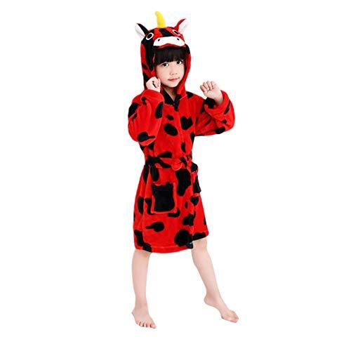e6ef1a8d25 DarkCom Albornoz para Niños con Capucha Ropa de Dormir Bata Pijamas para  Niños y Niñas Albornoces