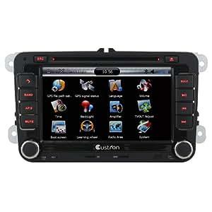 Custron T1070VW1 Autoradio DVD Pour VW Volkswagen Touareg / TOURAN / TIGUAN / PASSAT / POLO / Jetta / Golf / CADDY / NEW BORA OEM usine de DVD type GPS Sat Nav de navigation radio avec RDS Bluetooth Mainlibre Phonebook Canbus