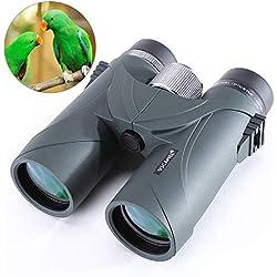 Jumelles pour Adultes, Jumelles 8x42 HD compactes avec étui de Transport pour l'observation des Oiseaux, la randonnée, Les Concerts, Les visites touristiques, l'observation des étoiles