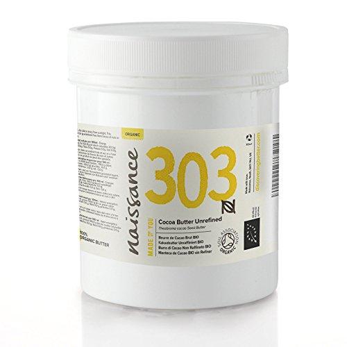 Naissance Manteca de Cacao BIO Sin Refinar - Ingrediente Natural 100% Puro - 100g