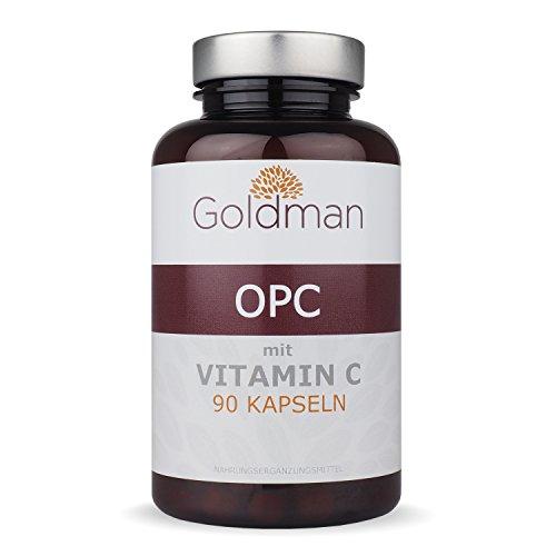Goldman OPC Kapseln • 90 Stück im 3 Monat Vorrat • Hochdosierter OPC Traubenkernextrakt aus Frankreich • Stärkstes Antioxidans der Welt • Vegan • Made in Germany