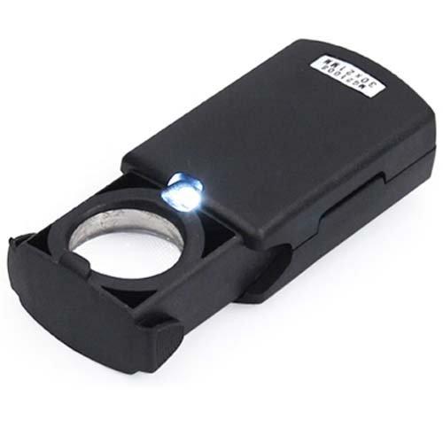 Trixes Lupe mit LED Vergrößerungsglas für Juweliere 30 x 21 mm - Lichter Finger-ring