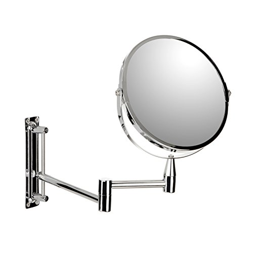 TATAY 4440200 - Espejo para tocador de pared con aumento x5 y brazo telescópico regulable de 17 cm...